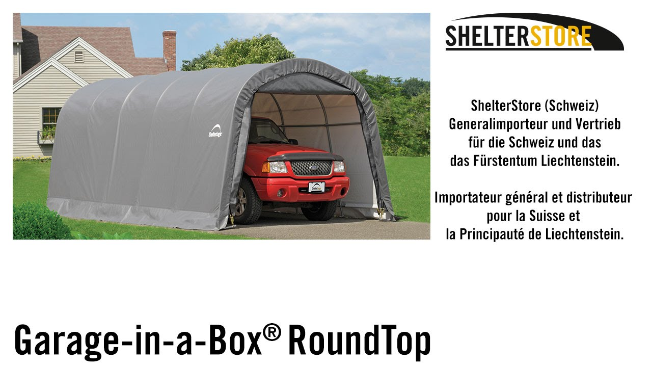 A Box In Garage : Shelterlogic™ garage in a box™ roundtop shelterstore