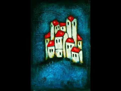 Textured Abstract Art Paintings - Paintings of houses - NESAART - Nebojsa Jovanovic