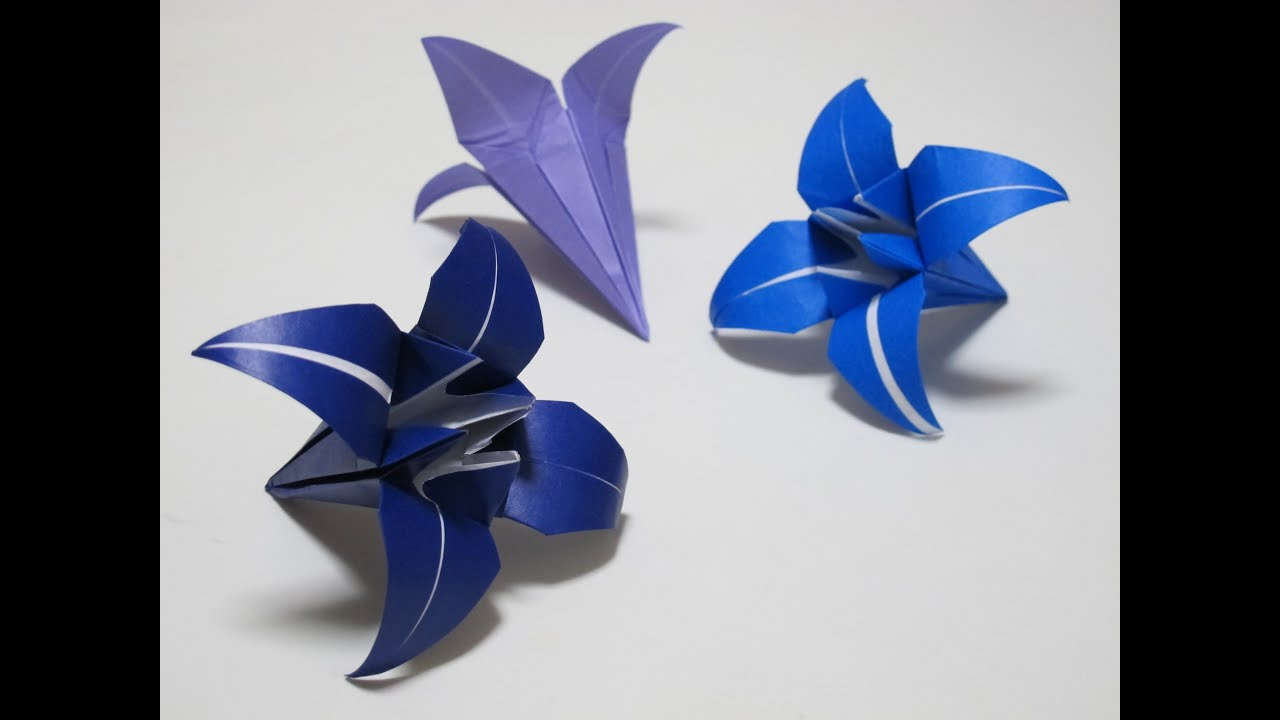 Origami How To Make A Lilyiris Flower Hd Youtube