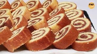 মাত্র 5 মিনিটে ফ্রাইপ্যানে চুলাই তৈরী সুইস রোল কেক - নাস্তা টিফিন রেসিপি | Swiss roll cake | Cake