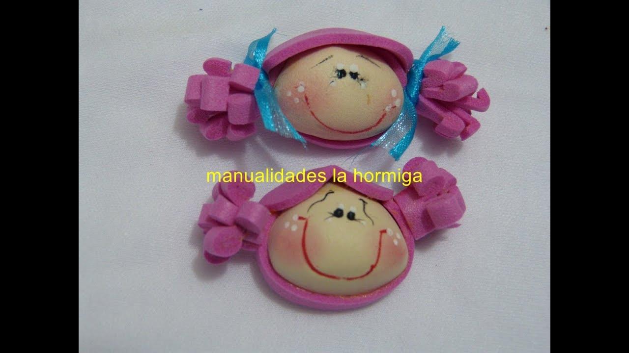 Caritas miniatura de foamy para decorar accesorios - Accesorios para decorar ...