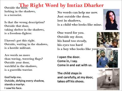 the right word imtiaz dharkar