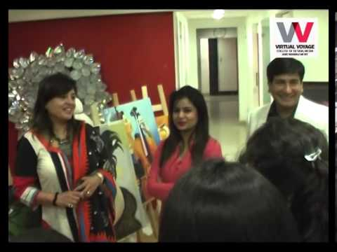 Painting Exhibition at Virtual Voyage College of Design, Media & Management,  Indore