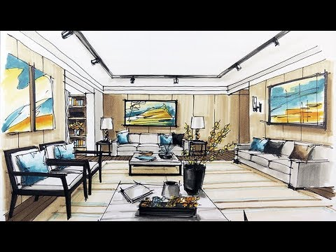 How to sketch interior design youtube for An interior decorator