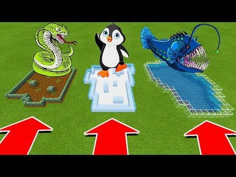 DO NOT CHOOSE THE WRONG FARM IN Minecraft PE (Anaconda, Penguin, & Angler Fish)
