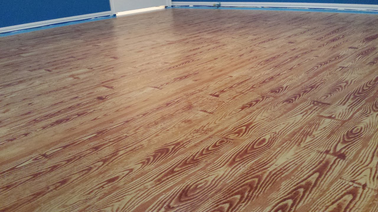 Painted Plywood Floors Basketball Court Lying The Gel Stain You