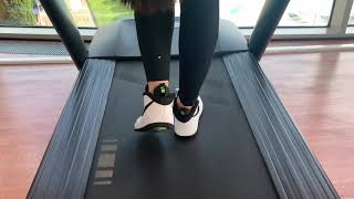 Mila longhair cardio training in the gym. Preview Ponytail, Bun drop