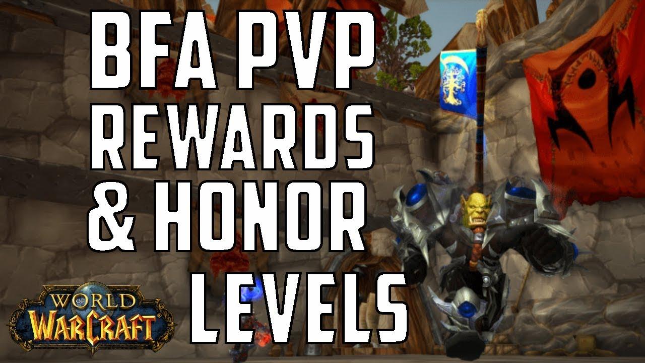 [WoW] BfA PvP Rewards & Conversion From Legion to BfA Honor Level