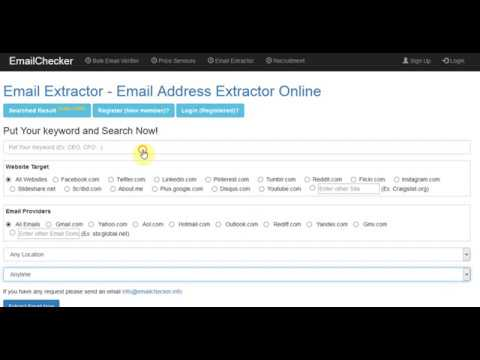 Email Extractor - Extract Email Online from Websites