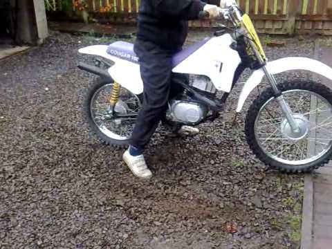 suzuki cougar 100 easy start and ride (for sale) - youtube