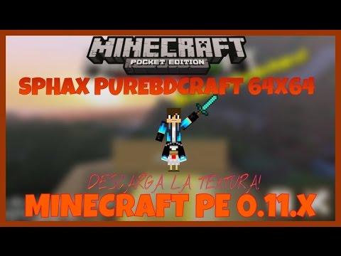 TEXTURA SPHAX PUREBDCRAFT 64X64•MINECRAFT PE 0.11.X•REVIEW Y DESCARGA-ESPAÑOL