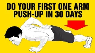 Do Your First One Arm Push-Up In 30 Days Challenge - How To Tutorial - Progressions - Video 1/4