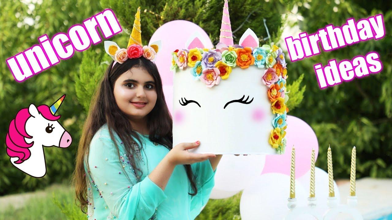 Cutest Decor Diy Unicorns Birthday Party Decoration Ideas Youtube