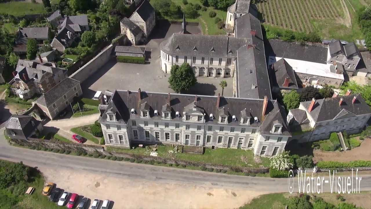 vid o a rienne de l 39 abbaye saint maur entre loire et vignoble youtube. Black Bedroom Furniture Sets. Home Design Ideas