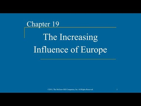 AP World History - Ch. 19 - The Increasing Influence of Europe
