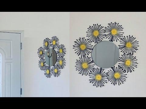 DIY: Sunburst Mirror Wall Art Decor