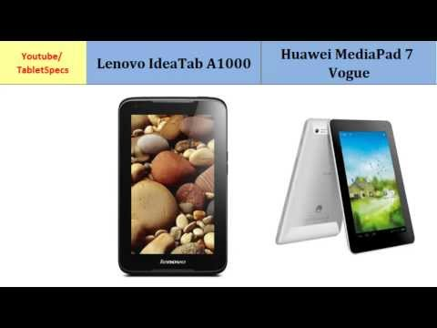 Lenovo IdeaTab A1000 and Huawei MediaPad 7 Vogue, compared with