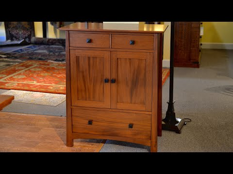 Mahogany Wine Cabinet Woodworking Furniture Making Carpentry