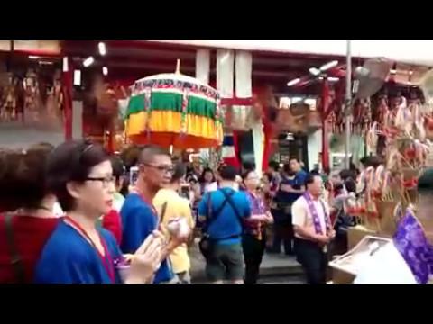 Vesak Day: The relic procession at Thekchen Choling Tibetan Buddhist temple