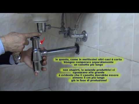 Come sostituire il sifone del lavandino - YouTube