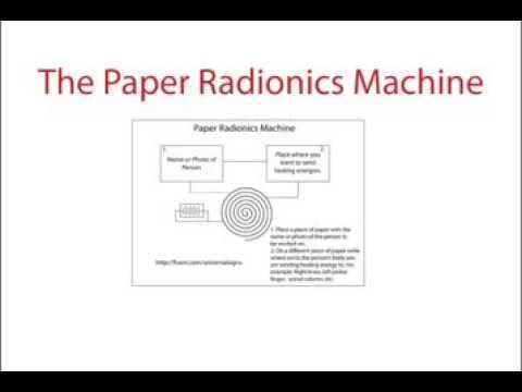 Real Working Paper Radionics Machine