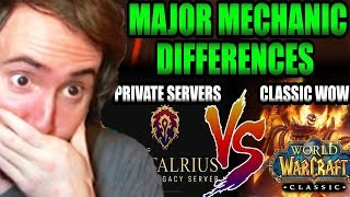 Asmongold Reacts TOP 7 Mechanic Changes We'll See in Classic WoW Coming From Private Servers