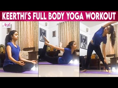 keerthi-suresh-yoga-workout-routine-|-annatha,-sarkar,-mahanati,-penguin-|-effective-yogasana