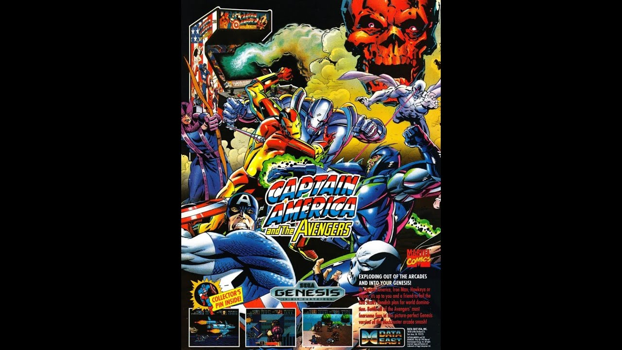 Captain America And The Avengers Genesis Playthrough Youtube