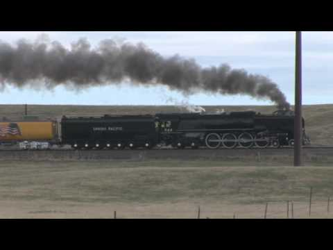 Steam Train - Little Rock Express-Leaving Wyoming UP 844