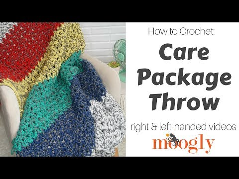 How to Crochet: the Care Package Throw (Right Handed)