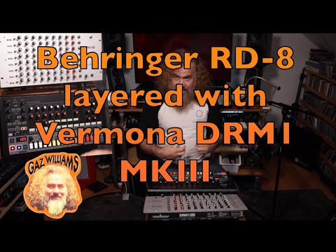 Analogue drum love in: Behringer RD-8 layered with a Vermona DRM1
