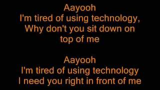 Katerine- Ayo Technology (lyrics)