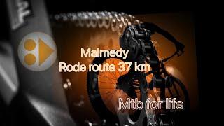 MALMEDY MTB ROUTE ROOD 38 km  29-12-2015