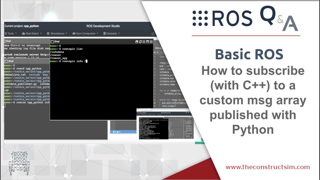[ROS Q&A] 190 - How to subscribe with C++ to a custom msg array published  with Python