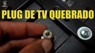 Consertando o Plug de entrada da antena externa da tv STI [ Pedro Roseno ]