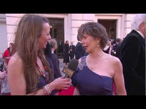 Interview with Celia Imrie at The Olivier Awards 2012