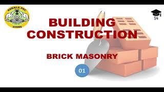 BRICK MASONRY -1