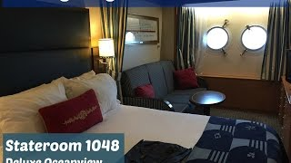 A video tour of the Disney Magic Stateroom 1048 Deluxe Oceanview
