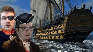 Naval Action Alpha Gameplay 60FPS - A Brig, A Cutter, and the MAJESTIC WONDER OF HMS VICTORY