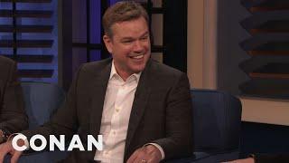 Matt Damon & Tom Cruise Have Different Approaches To Death Defying Stunts   Conan On Tbs