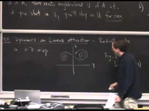 MAE5790-18 Strange attractor for the Lorenz equations