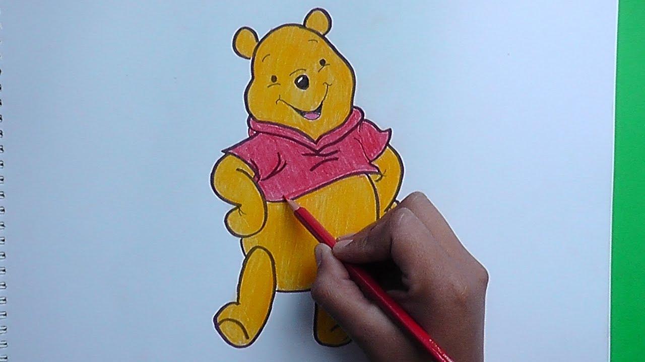 Dibujando y coloreando a Winnie Pooh 2015 - drawing and coloring ...