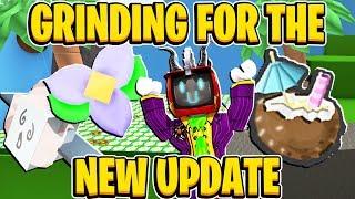 Moagem para a nova atualização vinda em Roblox Bee Swarm Simulator
