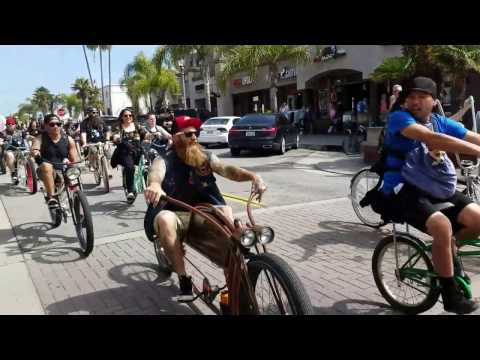 HB BC Bicycle Invade Main St Huntington Beach California