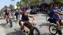 HB BC Bicycle Invade Main St Huntington Beach California