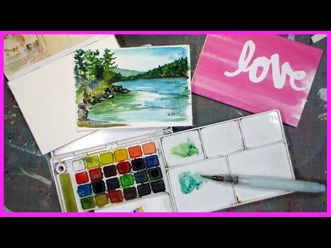 DIY Watercolor Paper Block // #worldwatercolormonth