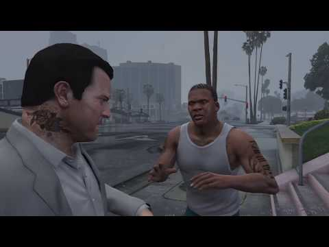 Grand Theft Auto V Franklin stalking to michael  (3).