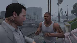 Grand Theft Auto V Franklin stalking to michael  (3).