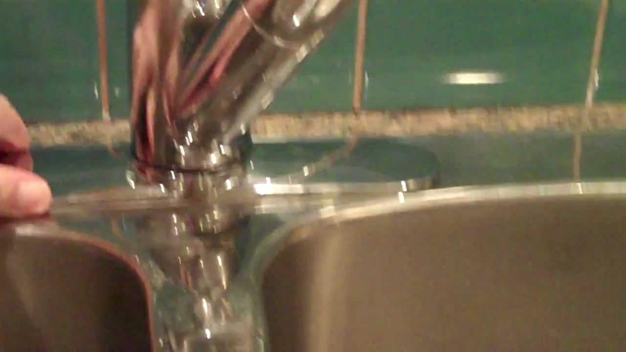How to tighten a Moen Salora single handle kitchen faucet