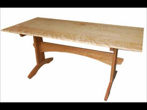 trestle table plans - YouTube